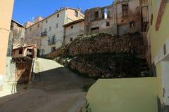 Provincia Aragon España de Teruel de la aldea de Cubla Fotografía de archivo libre de regalías