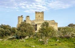 Provincia de Aldea del Cano Castle Mayoralgo de Caceres, España Imagenes de archivo