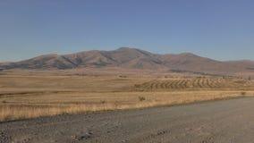 Provincia de Armenia, Aragatsotn Colores del otoño de campos cerca de Aramoun imagen de archivo