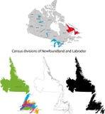 Provincia de Canadá - de Terranova y de Labrador ilustración del vector