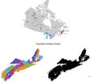 Provincia de Canadá - Nueva Escocia ilustración del vector