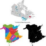 Provincia de Canadá - Nuevo Brunswick ilustración del vector
