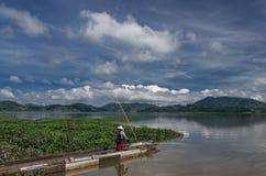 Provincia de Daklak en Vietnam y el LAK hermoso del lago foto de archivo libre de regalías
