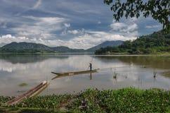 Provincia de Daklak en Vietnam y el LAK hermoso del lago imagen de archivo