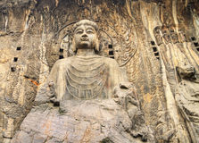 Provincia de luoyang henan de las grutas de Longmen Imagen de archivo