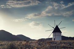 Provincia di Almeria del mulino a vento, Andalusia Spagna Immagini Stock