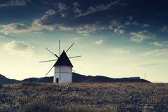 Provincia di Almeria del mulino a vento, Andalusia Spagna Immagine Stock
