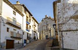 Provincia di Ares del Maestrazgo di Valencia, Spagna Fotografie Stock