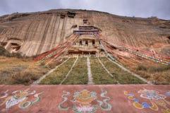 Provincia di Gansu del tempio di Mati fotografia stock libera da diritti