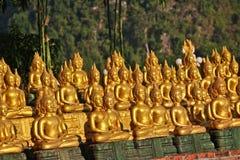 Provincia di Vientiane: 1? maggio 2019, statua di Buddha in Wat Sinxayyaram, il giardino di buddismo fotografia stock