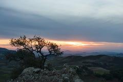 Provincia Ifrane del paesaggio al tramonto, Marocco Fotografia Stock Libera da Diritti