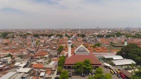 Provincia Indonesia de Jawa Tamerlán de la capital de Surabaya almacen de metraje de vídeo