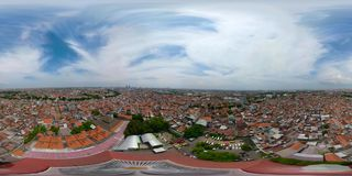 Provincia Indonesia vr360 de Jawa Tamerlán de la capital de Surabaya metrajes