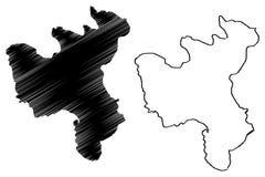 Provincia repubblica democratica popolare della Corea, DPRK, DPR Corea, province di North Hwanghae dell'illustrazione di vettore  illustrazione vettoriale