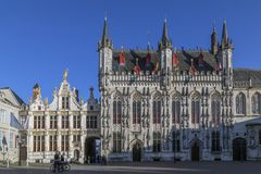 Provinciaal Hof - Bruges in Belgium Stock Photos