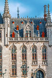 Provinciaal Hof on the Market square in the Historic Centre of Bruges Royalty Free Stock Image