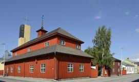 Provinciaal Museum van Centrale Ostrobothnia in het oude houten gebouw royalty-vrije stock afbeeldingen