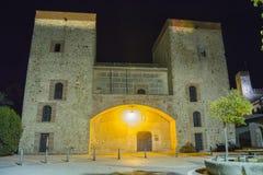 Provincial Archaeological Museum at night (Badajoz) Stock Image