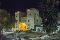 Provincial Archaeological Museum at night (Badajoz) Royalty Free Stock Photography