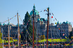 Provincial Capital Legislative Buildiing Wooden Boats Inner Harb Royalty Free Stock Images