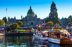 Provincial Capital Legislative Buildiing Wooden Boats Inner Harb Royalty Free Stock Photo