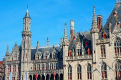 Provincial Court at Market Square in Bruges, Belgium Stock Photos