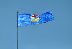 Provincial Flag for Alberta, Canada Royalty Free Stock Photo