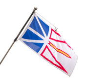 Provincial Flag of Newfoundland and Labrador, Cana. Da. From 1980 to present.Isolated on white Stock Photography
