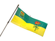 Provincial Flag of Saskatchewan, Canada Royalty Free Stock Photos