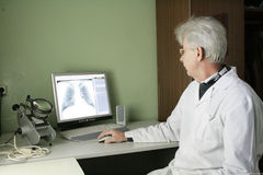 Provincial hospital in Russia explores the diagnosis Royalty Free Stock Images