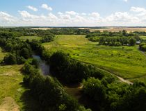 Provincial landscape with river in middle strip of Russia. Provincial landscape with a river in the middle strip of Russia royalty free stock photography