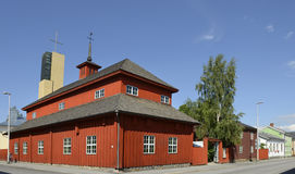 Provincial Museum of Central Ostrobothnia in the old wooden building royalty free stock images