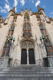 The Provincial Palace in the Bruges Town square in Bruges, Belgi Royalty Free Stock Images