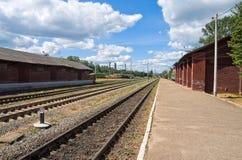 Provincial Railway Station Stock Photo