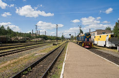 Provincial Railway Station Royalty Free Stock Images