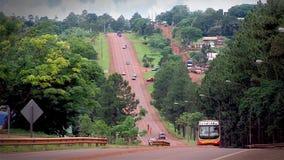 Provinciale Route in Misiones, Argentinië stock videobeelden