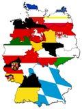 Provincias alemanas (estados) Imagen de archivo libre de regalías