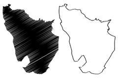 Provincias de la provincia de Annaba de Argelia, rep?blica Democratic de la gente del ejemplo del vector del mapa de Argelia, map