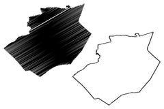 Provincias de la provincia de Bechar de Argelia, rep?blica Democratic de la gente del ejemplo del vector del mapa de Argelia, map