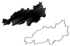 Provincias de la provincia de Blida de Argelia, rep?blica Democratic de la gente del ejemplo del vector del mapa de Argelia, mapa