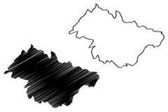 Provincias de la provincia del rimel de Argelia, república Democratic de la gente del ejemplo del vector del mapa de Argelia, rim