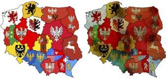 Provincias en Polonia Foto de archivo