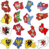 Provincias en Polonia Imágenes de archivo libres de regalías