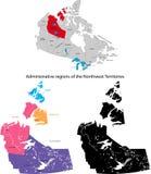 Provincie van Canada - de Gebieden van het Noordwesten Stock Foto