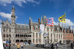 Provinciehof Brugge België Stock Fotografie