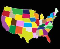 Provincies van Amerika royalty-vrije stock fotografie