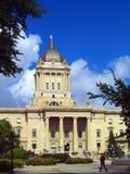 Provinsiell lagstiftnings- byggnad i Winnipeg, Manitoba royaltyfri foto