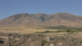 Provinz Armeniens, Aragazotn Herbstfarben von Feldern nahe Aramoun stockbild