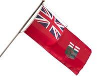 Provinzielle Flagge Manitobas stockbild