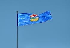 Provinzielle Markierungsfahne für Alberta, Kanada Lizenzfreies Stockfoto